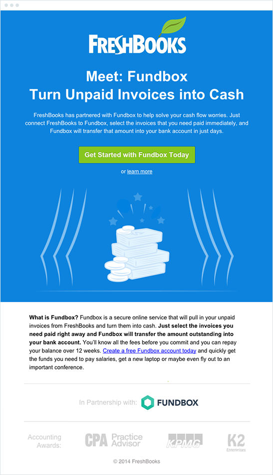 Email Marketing - Freshbooks Announcement Email