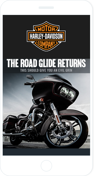 Email Marketing - Harley Davidson Mobile Announcement Email