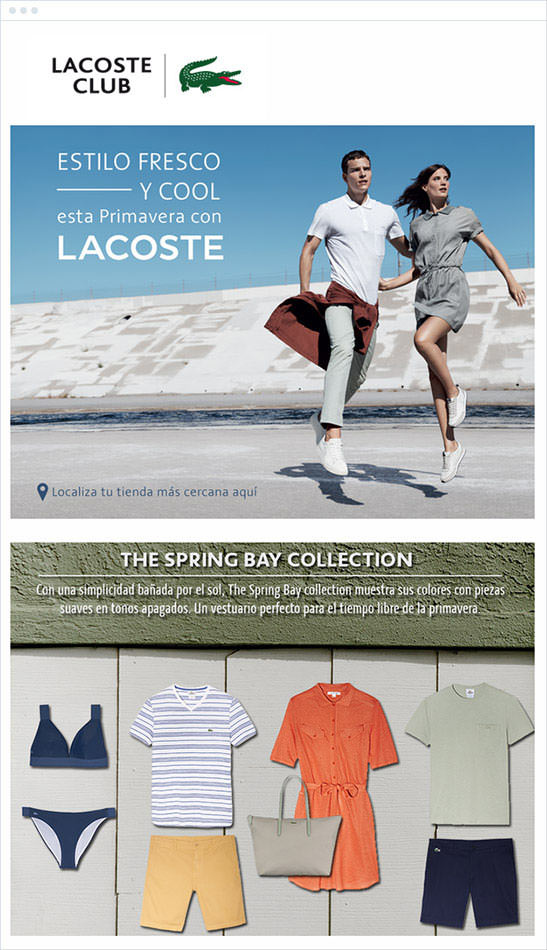 Email Marketing - Lacoste Announcement Email