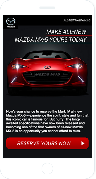 Email Marketing - Mazda Mobile Announcement Email