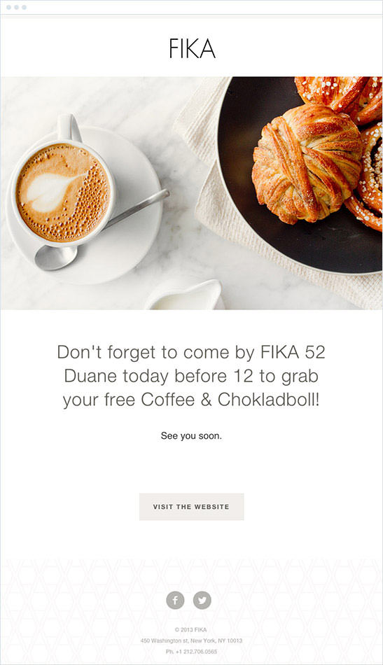 Email Marketing - Fika Event Email