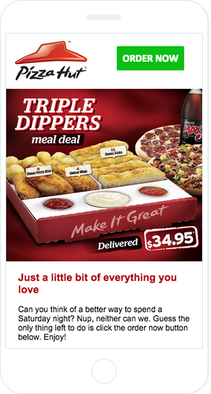Email Marketing - Pizza Hut Mobile Marketing Offers Email