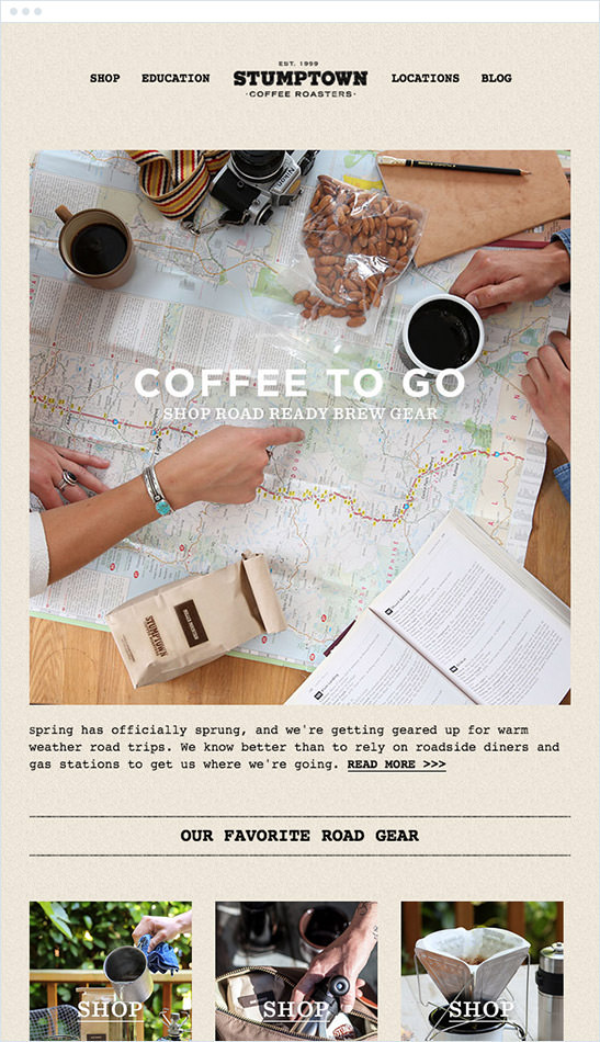 Email Marketing - Stumptown Coffee Marketing Offers Email