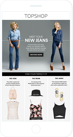 Email Marketing - Topshop Mobile Marketing Offers Email