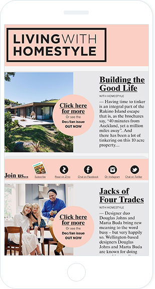 Email Marketing - Homestyle Magazine Mobile Email Newsletter
